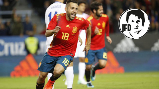 Jordi Alba during a match for Spain