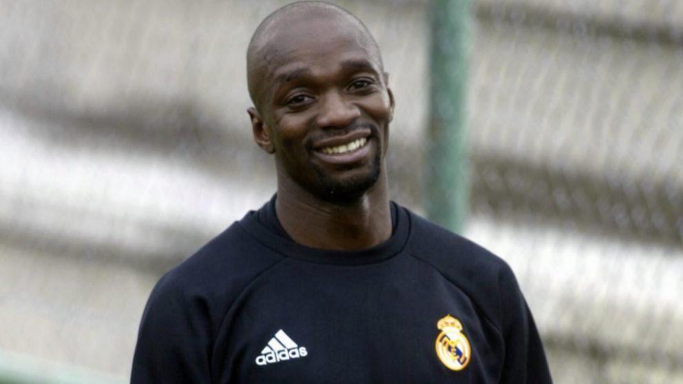 Claude Makelele durante su etapa en el Real Madrid