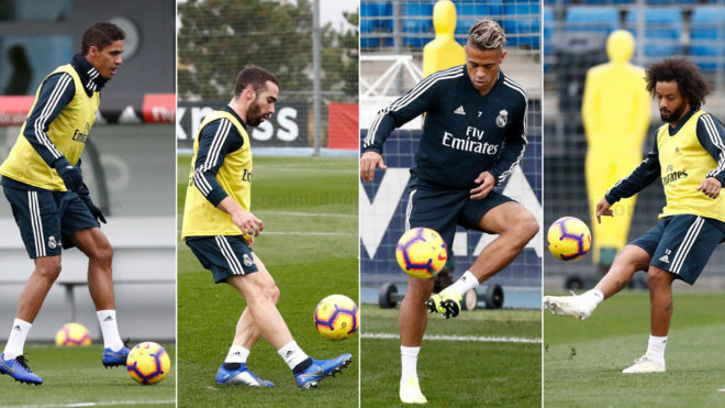 Varane, Carvajal, Mariano and Marcelo.