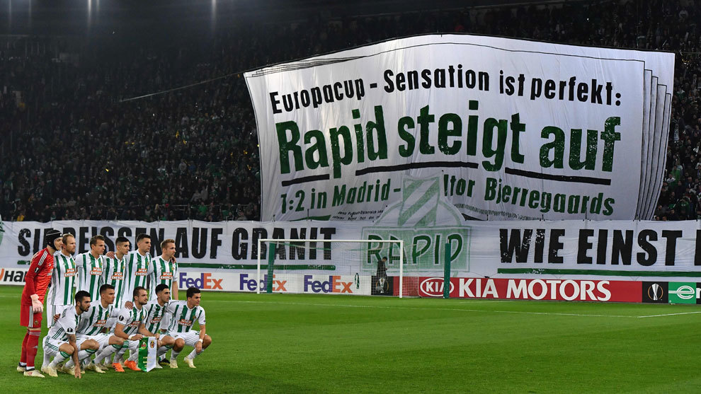 Rapid's ultras remember Real Madrid.