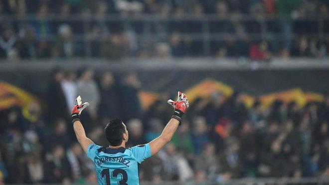 Andres, durante el partido de Viena.