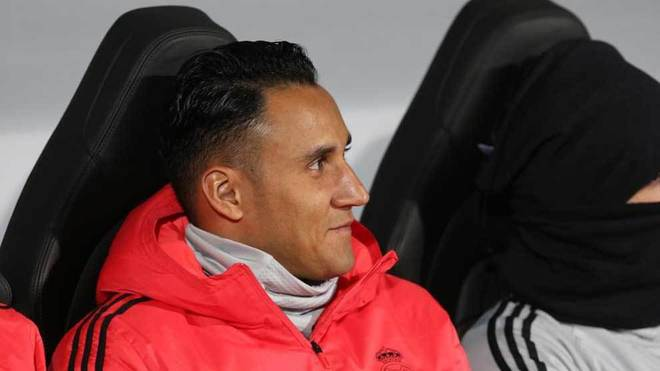 Keylor Navas, on the bench in the Champions League match against...