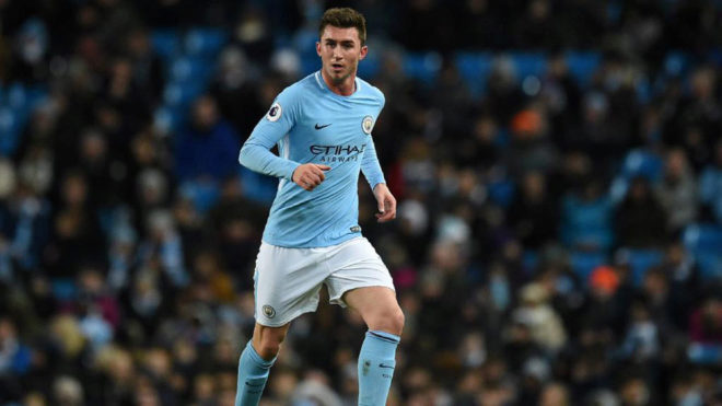 Laporte, with Manchester City.