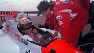 Fittipaldi y Seena en Phoenix 1992.