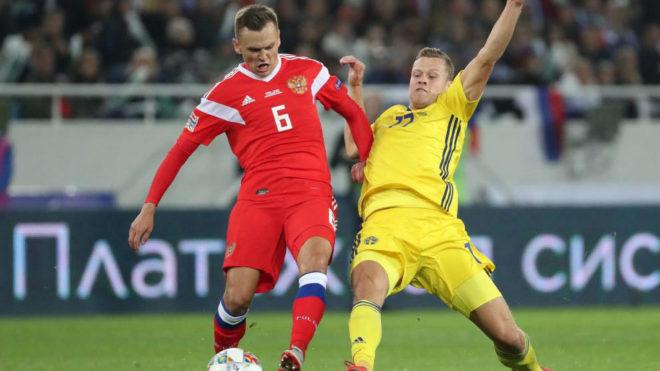 Cheryshev durante un partido con su selección.