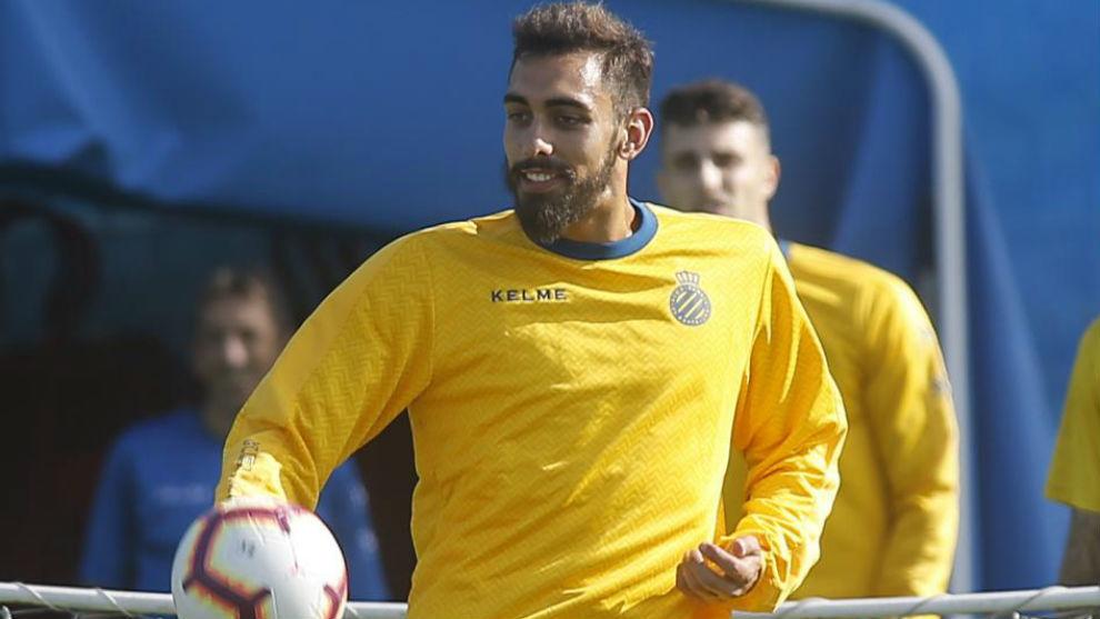 Borja Iglesias se entrena en la Ciudad Deportiva.