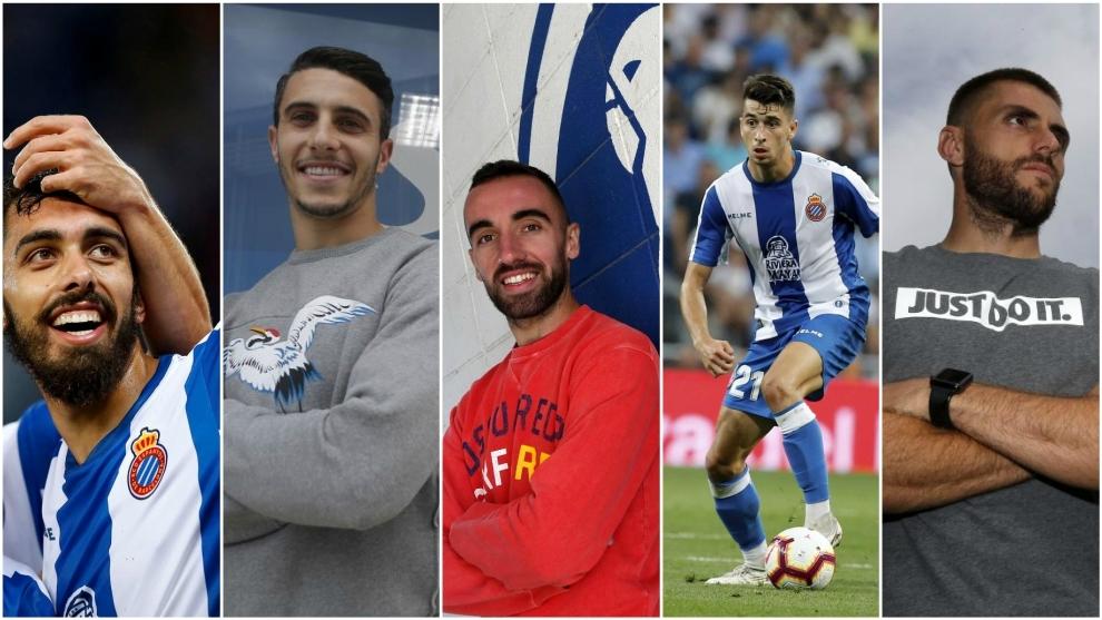 Borja Iglesias, Mario Hermoso, Darder, Marc Roca y David López.
