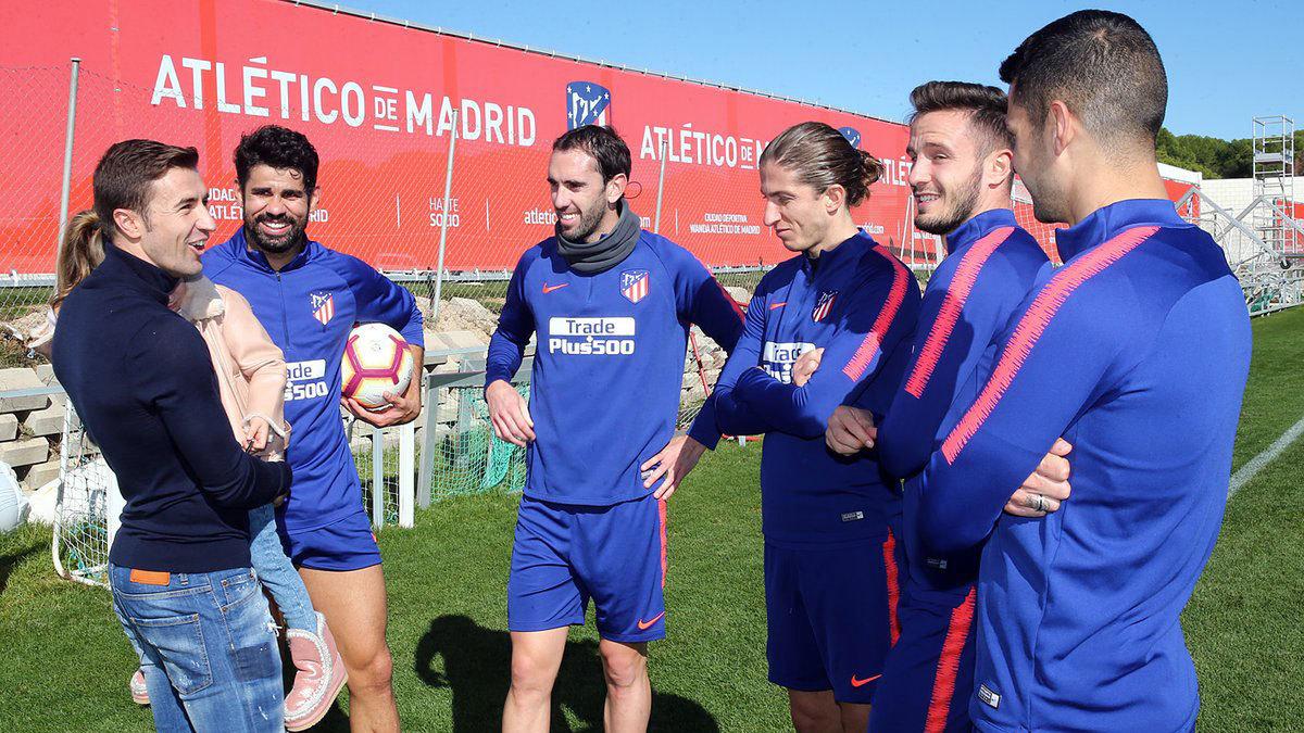 Gabi visiting former Atletico teammates