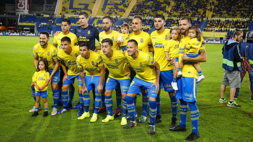 Alineación de la UD Las Palmas.