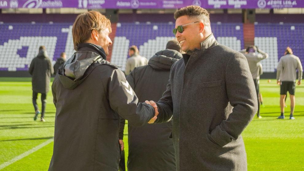 Ronaldo en el entrenamiento del Valladolid.