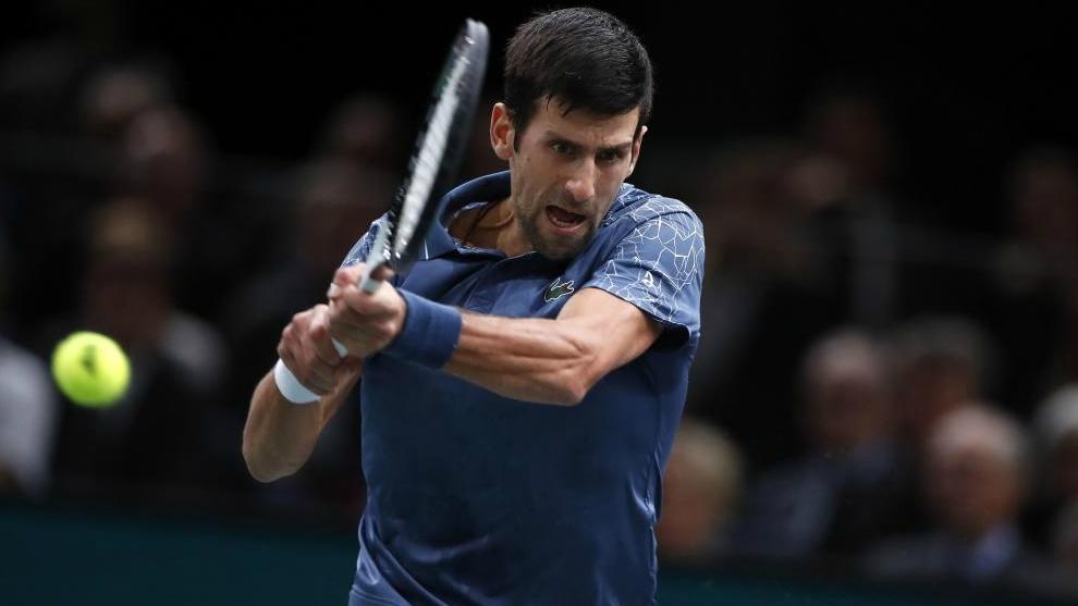 Novak Djokovic, durante la final del Masters de París.