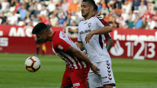 Rey Mana, en el partido ante el Almería