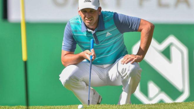 Sergio García durante la primera vuelta del Nedbank Golf Challenge.