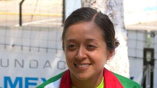 Adriana García en la concentración de la selección mexicana ne el...
