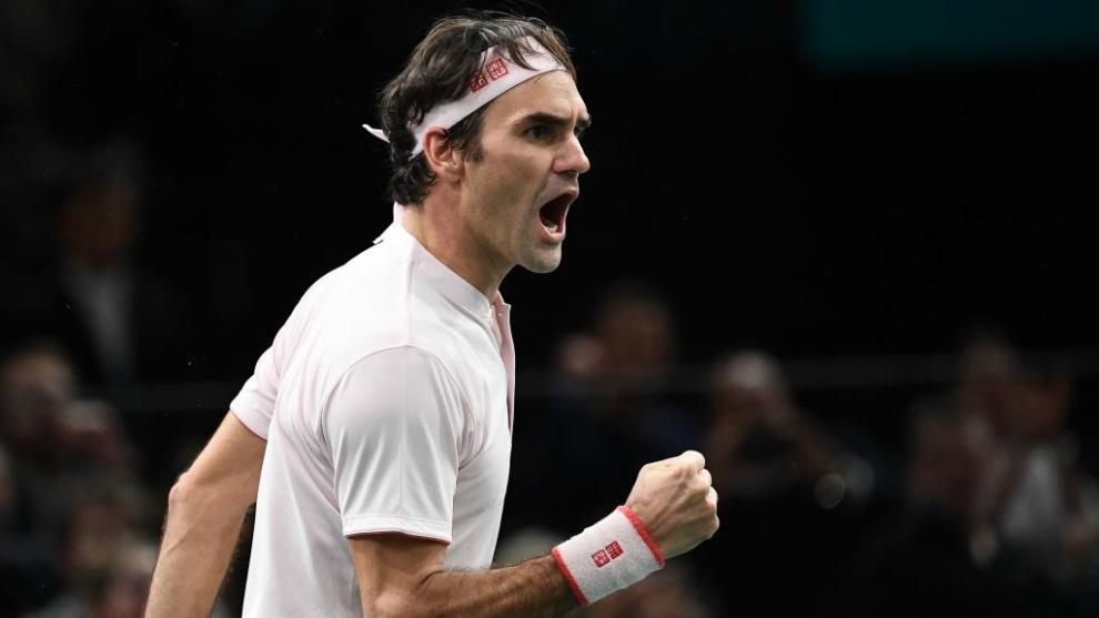 Roger Federer, durante el Masters de París.