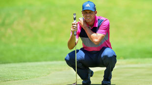 Sergio García durante su participación en el Nedbank Golf Challenge.