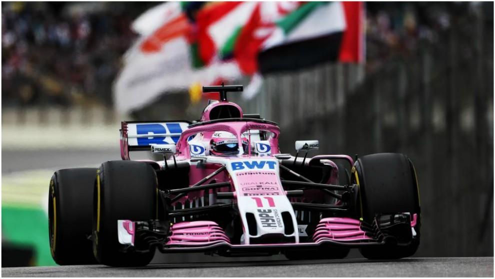 Checo Pérez se queda fuera de la Q3 y largará duodécimo en el GP de Brasil