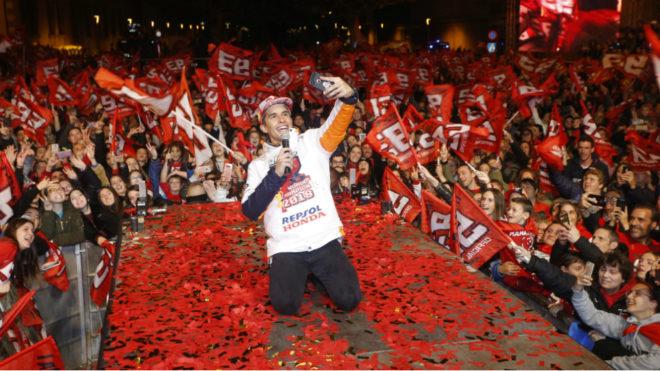 Marc Márquez, en plena celebración.