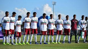 La selección mexicana Sub-20 previo a su duelo ante Aruba