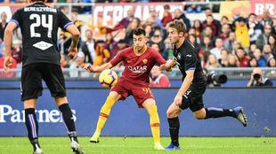 El Shaarawy, en acción contra la Sampdoria.