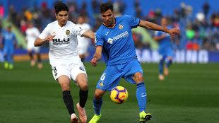 El Getafe no pudo vencer en su feudo al Valencia.