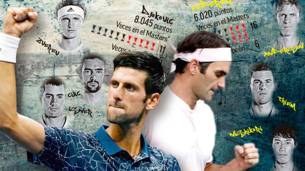 Djokovic y Federer, los grandes atractivos