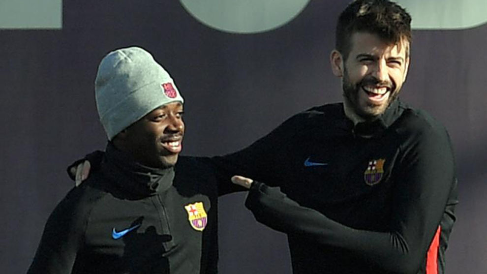 Dembele and Pique.