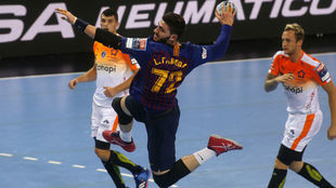 Fabregas, en el partido que jugaron Barcelona y Montpellier en el...