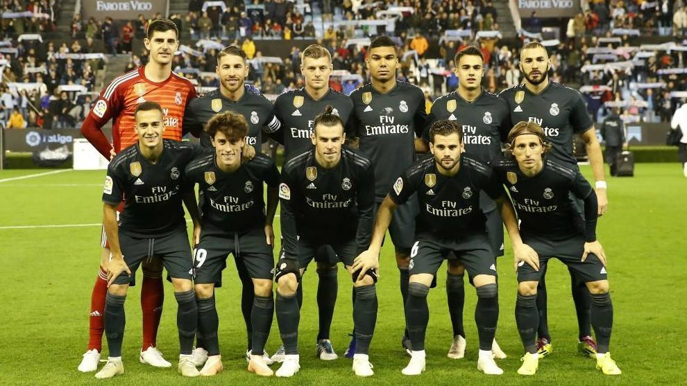 Real Madrid's starting XI vs Celta.