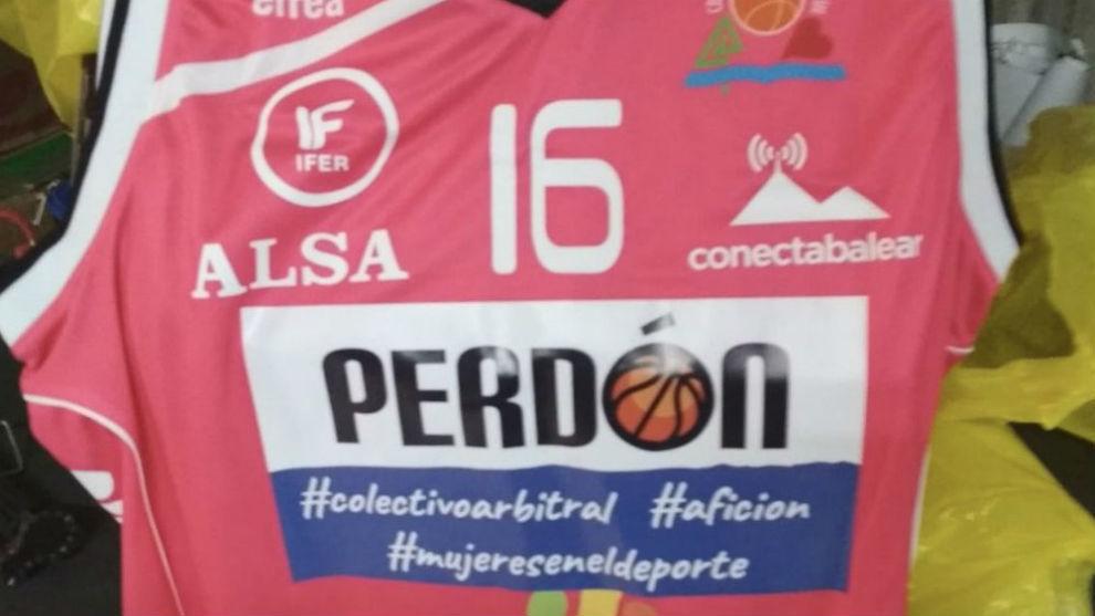 Camiseta con la que jugó el Iberojet Palma