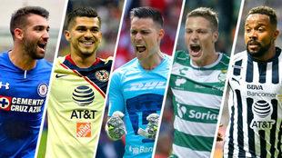 Cruz Azul, América, Pumas, Santos y Monterrey, con boleto