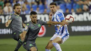 Joseba Zaldua, en el partido contra el Leganés.