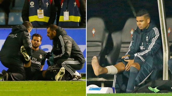 Imágenes de Nacho y Casemiro tras su lesión