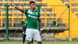 Juan Sebastián Quintero, con el Deportivo Cali.