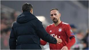Ribéry, en el partido ante el Dortmund.