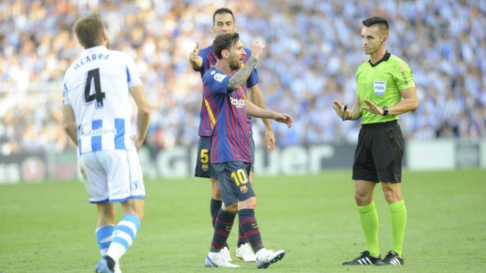 Del Cerro Grande junto a Leo Messi.