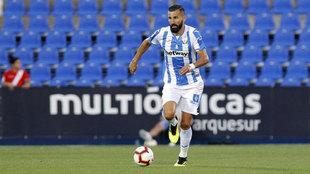 Siovas, durante un partido con el Leganés.