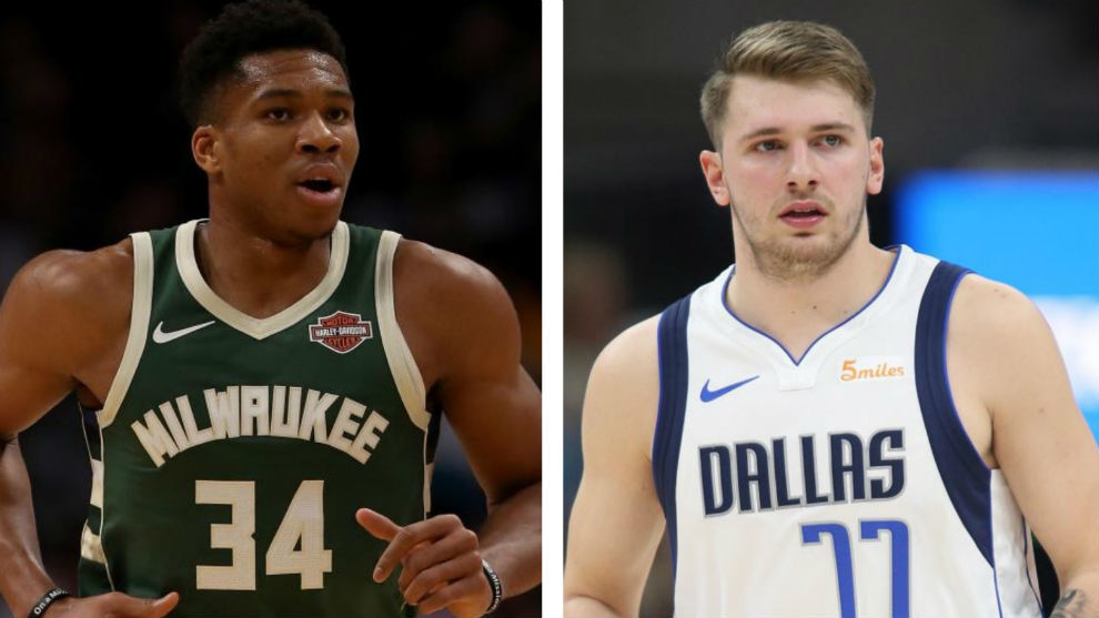 Giannis Antetokounmpo y Luka Doncic.