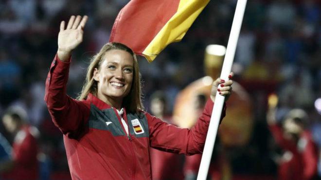 Mireia Belmonte ya fue la abanderada española en los XVIII Juegos...