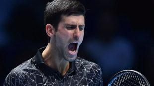 Djokovic grita durante el partido