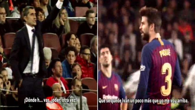 Tức điên, HLV Barcelona chửi tục Pique