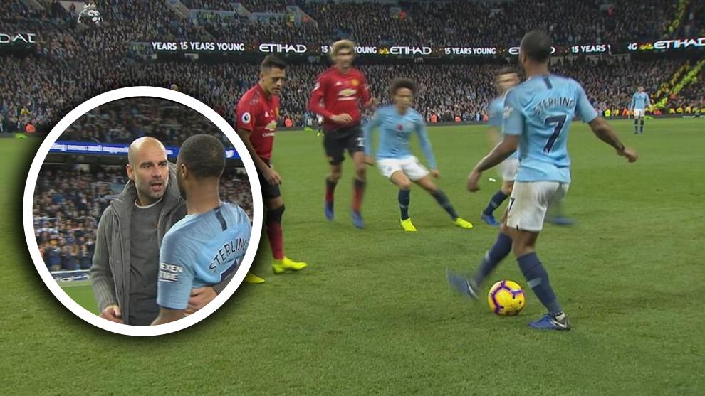 A Guardiola no le gusta que sus futbolistas humillen al rival: así fue su bronca a Sterling