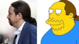 Así reaccionó Pablo Iglesias al ver su parecido con un personaje de...