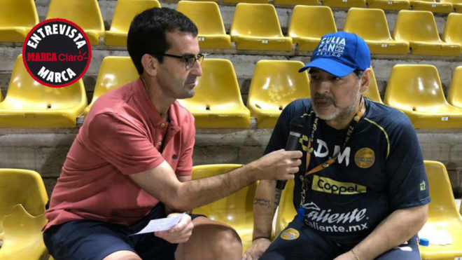 Maradona, in an interview with MARCA.