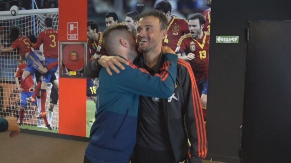 Los Sub-21, protagonistas en el día de Jordi Alba