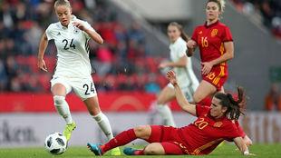 Imagen del partido amistoso entre Alemania y España disputado en...