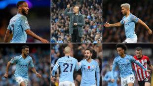 Sterling, Guardiola, Agüero, Mahrez, Silva, Bernardo Silva y...