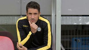 Julio Velázquez (36) durante un partido reciente del Udinese