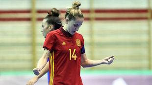 Anita Luján, durante el partido ante Rusia.