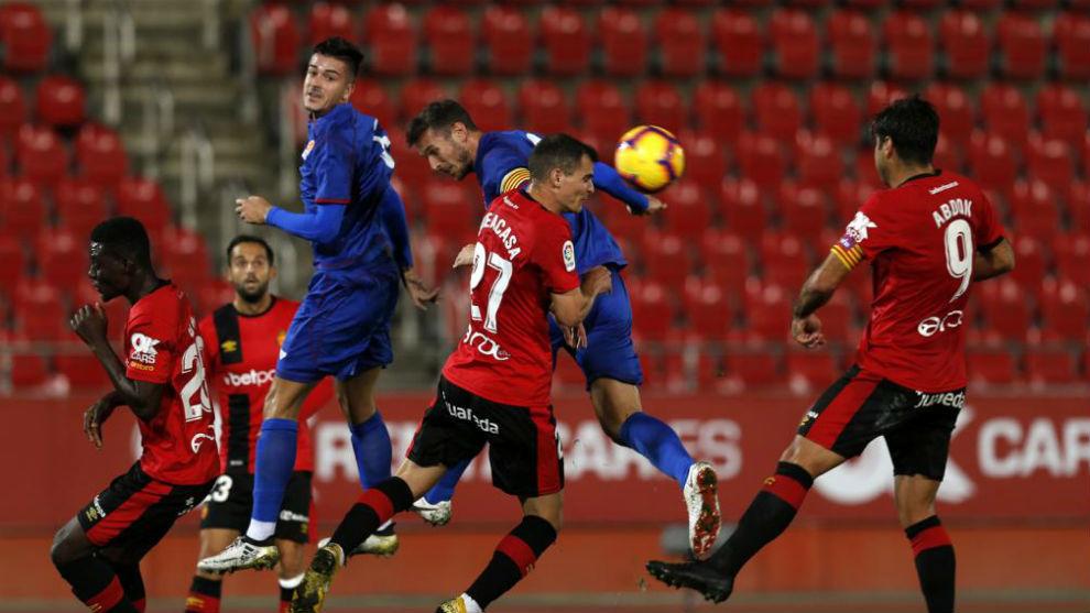 El Mallorca y el combinado balear, durante el partido